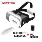 3D VR Box Sanal Gerçeklik Gözlüğü + Kumanda + Pil